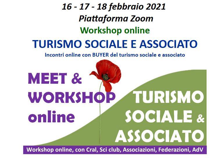 Whorkshop online: turismo sociale e associato